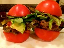 Fresh Tomato Bun Burger with Avocado