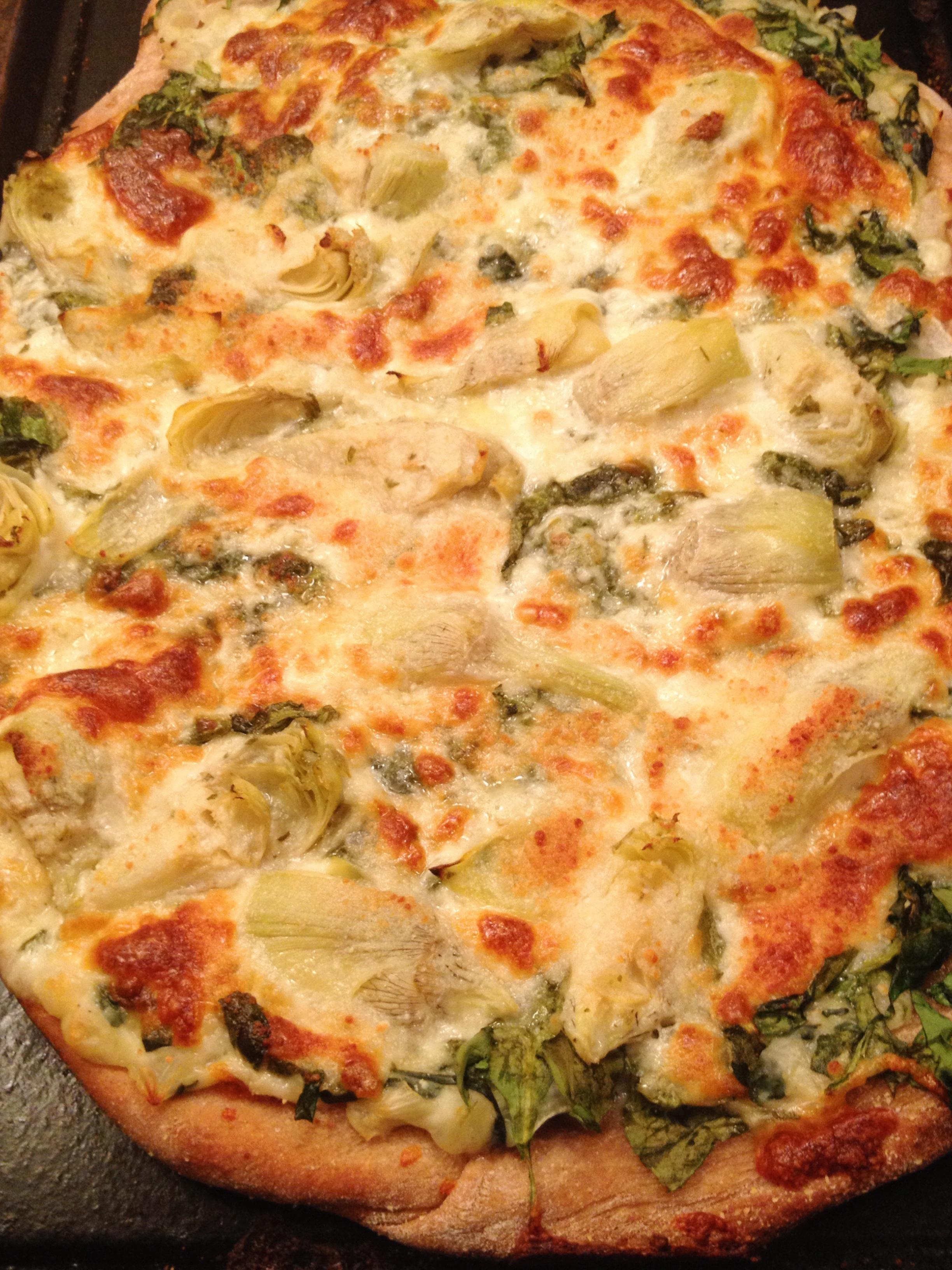 Artichoke & Spinach Pizza | T.W.O.