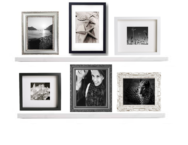 Photo Collage Frames On Wall The Image