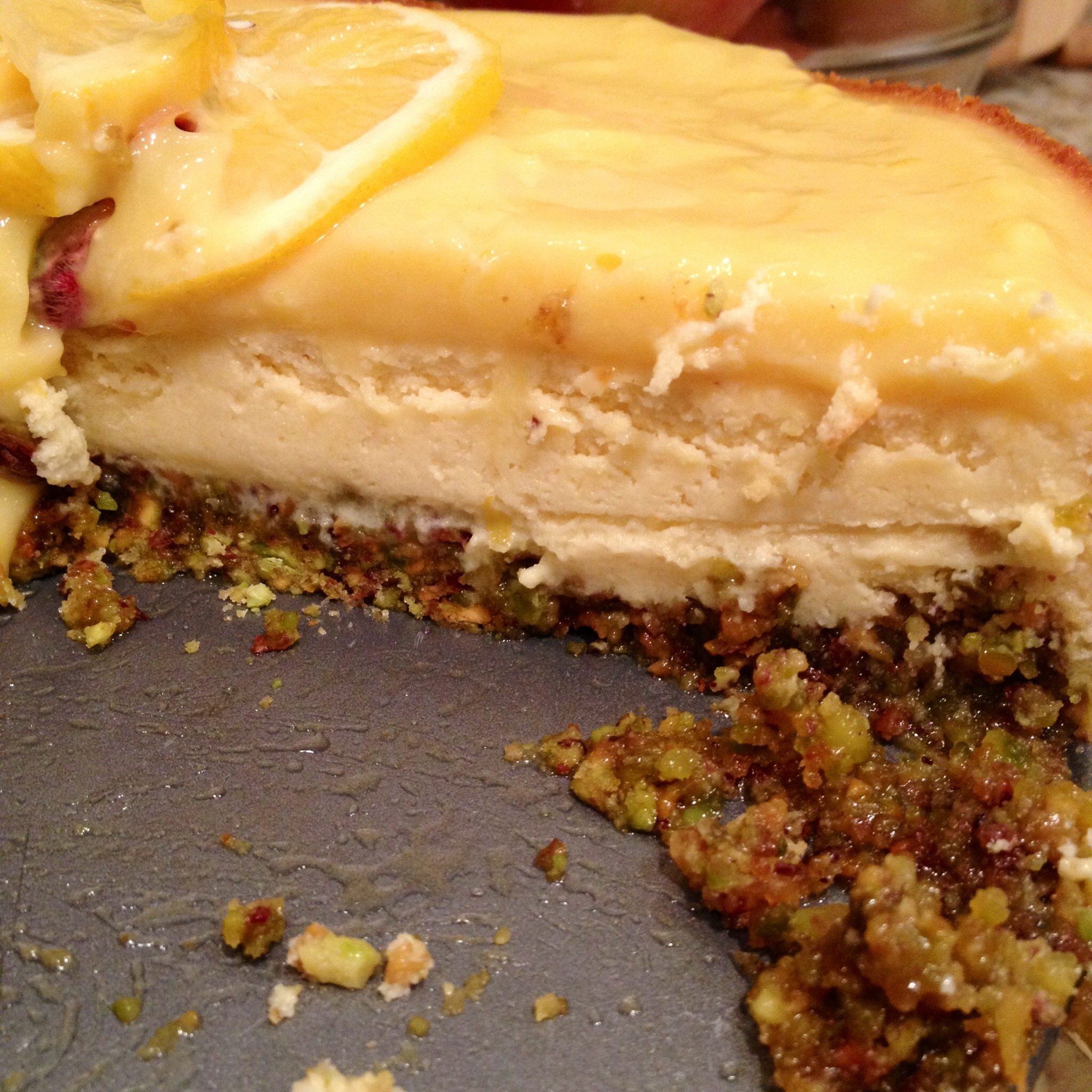 Goat Cheese, Honey & Pistachio Mini Cheesecakes with Meyer ...