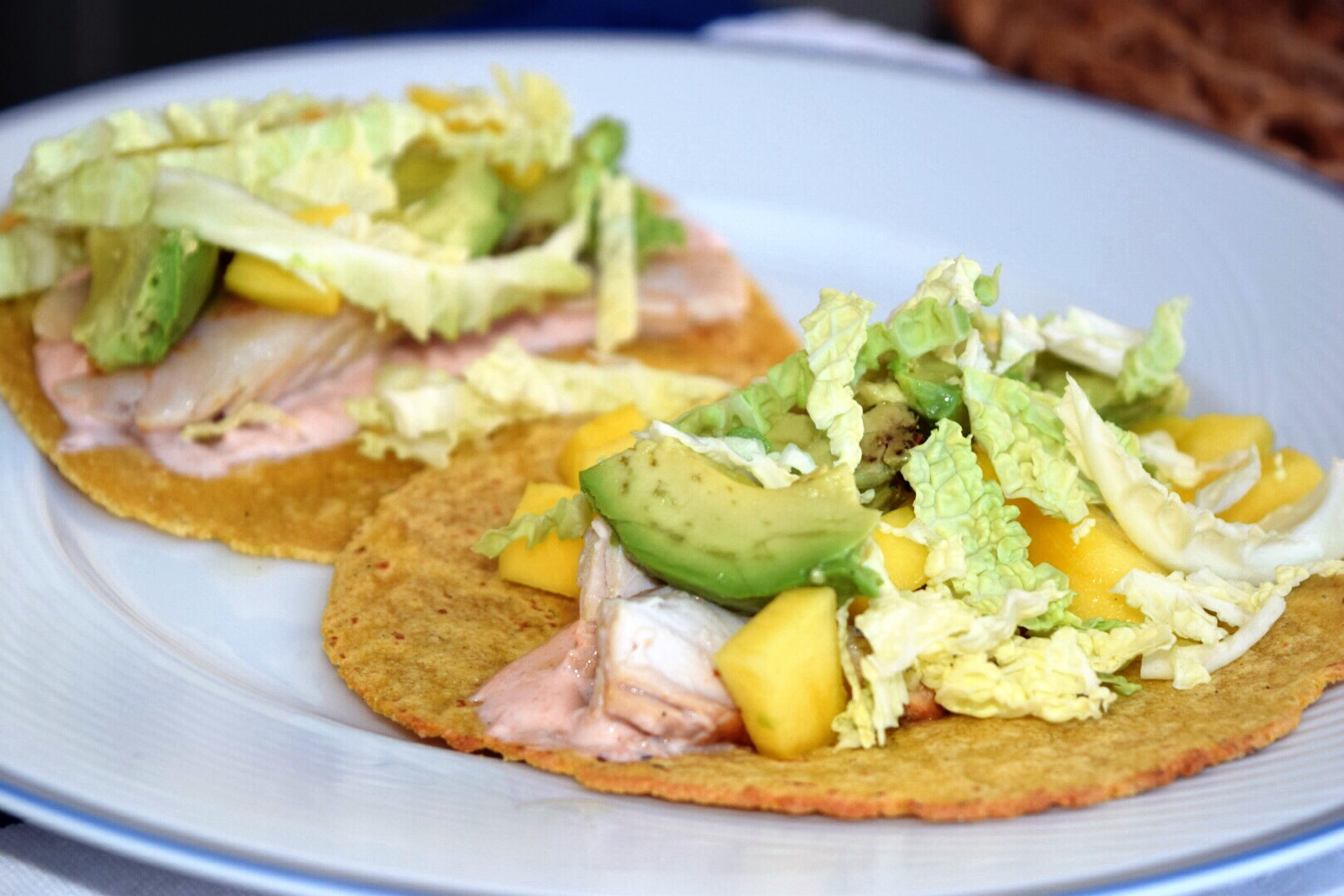 Grilled fish tacos with a sriracha yogurt sauce t w o for Yogurt sauce for fish