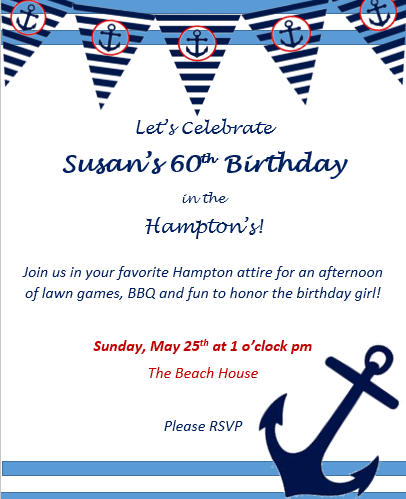 Susan's 60th WP
